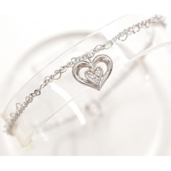 Star jewelry K18WG bracelet diamond 0.02 certificate used jewelry ★★ giftwrapping for free