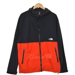 THE NORTH FACE Compact Jacket nylon jacket red X black size: L (the North Face)