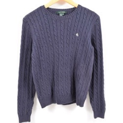 Ralph Lauren Ralph Lauren LAUREN Lauren cable knitting cotton knit sweater Lady's M /waw5394