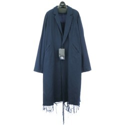 UNDER COVER under cover 18SS Tachi drill cotton flannel overcoat navy 3 men