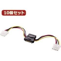 Ten set Sanwa Supply 2 crotch power supply cable (10cm) TK-PWSATA4-01X10