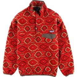 Patagonia Patagonia SYNCHILLA シンチラスナップ T 25450FA12 native pattern sleeve embroidery fleece pullover men M /wbi2538 made in 12 years