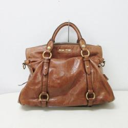 ミュウミュウレザーサイドリボン 2way bag brown Lady's ★★ found on Bargain Bro India from Rakuten Global for $171.00
