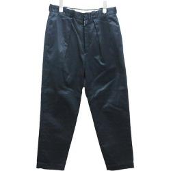 MARKAWARE TUCK PEGTOP CHINO TROUSER underwear 17AW navy size: 1 (markerware)