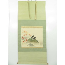 It is figure of bird handwriting silk book hanging scroll sect sou in Japanese painting writer thing Kaede