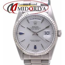 Rolex D date 18239 sapphire silver clockface men WG self-winding watch ROLEX DAY-DATE /36497 watch