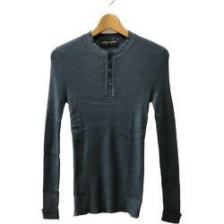 Like-new dolce and Gabbana SIZE 44 (S) long sleeves cut-and-sew henley neck GH512K F44C7 DOLCE & GABBANA men