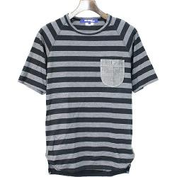 JUNYA WATANABE COMME des GARCONS MAN ジュンヤワタナベコムデギャルソンマン 13SS breast pocket design horizontal stripe T-shirt men black M