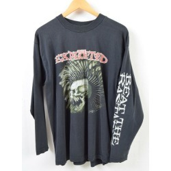 Men L /wbb4901 in the 90s made in screen Stars SCREEN STARS THE EXPLOITED エクスプロイテッド BEAT THE BASTARDS sleeve print Ron T band T-shirt Ireland