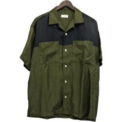 EN ROUTE 16SS combination short sleeve shirt khaki X purple size: 2 (Ann route)