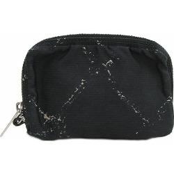 Black black nylon netshop with the CHANEL (Chanel) travel line porch accessory case key ring