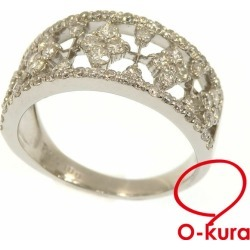 Diamond ring Lady's Pt900 14 1.00ct 6.8 g platinum diagram ring deep-discount pawnshop exemption from taxation A6023306