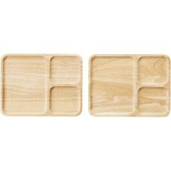 Wood plate two pieces set M80312044