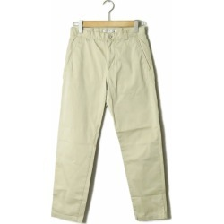 Acne Studios Akune's toe Dio's ALFRED SATIN PSS17 stretch cotton satin tapered pants 44 beige trouser Chino bottoms