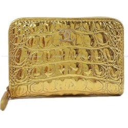 2019-limited metier Dahl Chanel here mark card case gold type push クロコメタリックカーフ A69271 new article (2019 Limited Metiers d'Art CHANEL COCO Mark Card case Embossed Metallic Calf[Brand new][Authentic])#yochika