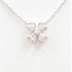 Vendome Aoyama K18WG necklace diamond 0.15 used jewelry ★★ giftwrapping for free