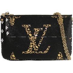 """LOUIS VUITTON Louis Vuitton chain shoulder"""" pochette do - bulldog zip"""" black M67874 new article (LOUIS VUITTON Shoulder Bag """"Pochette Double Zip""""[Brand new][Authentic])# よちか"""