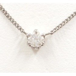 PT900 platinum PT850 necklace diamond 0.303 VS1 appraisal used jewelry ★★ giftwrapping for free
