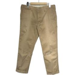 """VISVIM """"HIGH-WATER CHINO"""" cropped chino pants beige size: 2 (ビズビム)"""