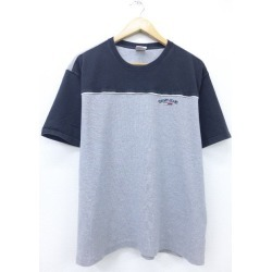 Old clothes vintage T シャツトミーヒルフィガー TOMMY HILFIGER logo big size gray marbled beef XL size used men short sleeves