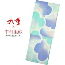 """Yukata lady's yukata latest for Kokonoe X Risa Nakamura brand yukata one piece of article """"big plum light blue X bluish violet"""" (9NR-8) 2,019 years for women"""