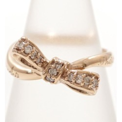 Samantha tiara K18PG ring 7 diamond 0.11 used jewelry ★★ giftwrapping for free