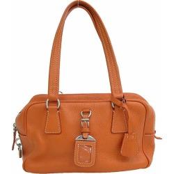PRADA (Prada) mini-Boston bag shoulder orange leather netshop