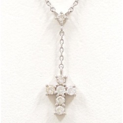 Vendome Aoyama PT900 PT850 necklace diamond 0.23 used jewelry ★★ giftwrapping for free