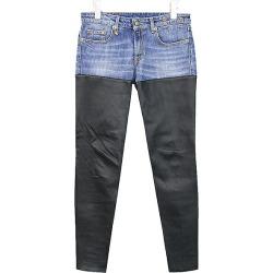 R13 are thirteen leather reshuffling skinny pants Lady's indigo X black 27