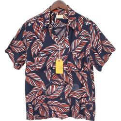 BUTCHER PRODUCTS 18SS HAWAIIAN Hawaii Ann Hawaiian shirt LEAF navy size: S-15 (Butcher products)