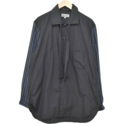 The shirt washing black size with the YOHJI YAMAMOTO pour homme reshuffling bow tie long sleeves shirt stall: 3 (ヨウジヤマモトプールオム)