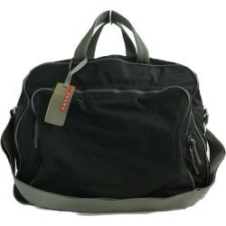 Prada sports line nylon 2WAY shoulder Boston bag /4V0370/ black / gray /PRADA ■ 281291