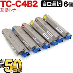 [A4 paper 500 pieces presentation] six sets which can choose TC-C4B2 recycling toner large-capacity free choice six set-free choice (for OKI) for Oki Electric