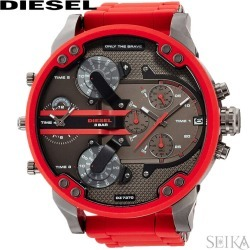The watch Father's Day when the watch that diesel DIESEL DZ7370 Mr. Daddy clock watch men red is red is red