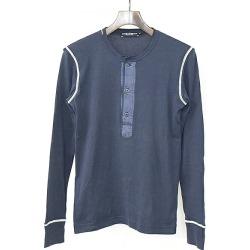 DOLCE & GABBANA Dolce & Gabbana henley neck Longus Reeve T-shirt men navy 44