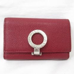 Bulgari BVLGARI six key case leather red brand accessory key case Lady's ★★