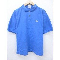 Old clothes polo shirt Lacoste LACOSTE logo fawn blue blue XL size used men short sleeves tops Spring clothes summer clothing summer clothes casual shirt men fashion short sleeves shirt fashion for spring is casual in the spring and summer
