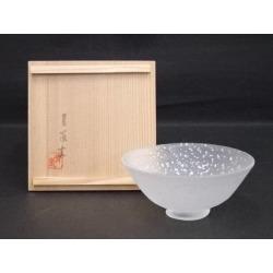 Scatter 青嵐窯造 ぎやまん silver; a bowl [Japanese dishes / Matcha porcelain bowl / Matcha bowl / tea ceremony / tea set / tea service set / curio / tea]