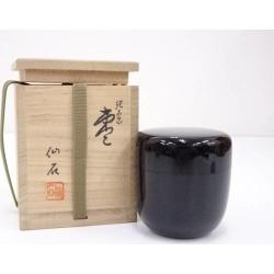 仙石造輪島塗中棗 [tea ceremony / tea set / tea service set / curio / tea / jujube]