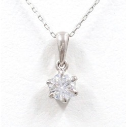 PT900 platinum PT850 necklace diamond 0.305 SI2 appraisal used jewelry ★★ giftwrapping for free