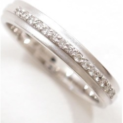 K10 10 gold WG white gold ring 13 diamond 0.09 used jewelry ★★ giftwrapping for free