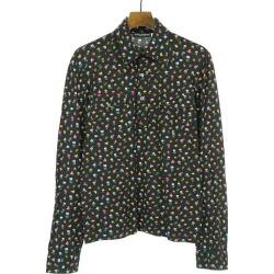 DOLCE & GABBANA Dolce & Gabbana flower print side pocket long sleeves polo shirt black M men