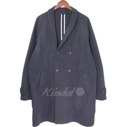 UNIVERSAL PRODUCTS Soutien Coller Coat double-breasted coat cotton coat navy size: 2 (universal products)