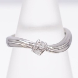 PT900 platinum ring 6.5 diamond 0.04 used jewelry ★★ giftwrapping for free