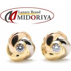 Cartier Cartier trinity pierced earrings diamond K18 three color gold B8027100 /091909