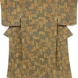 Crepe place flowers and birds printed cotton design fine pattern kimono sect sou