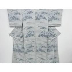 To recycling Toyama Matsubara design semi-gala pattern fine pattern kimono [kimono / / kimono / kimono / semi-gala pattern / visiting dress in Japanese dress]