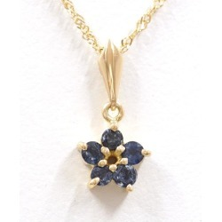 K18 18-karat gold YG yellow gold necklace sapphire used jewelry ★★ giftwrapping for free