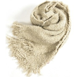 altea アルテアマフラーストールメンズレディース wool mohair blend plain fabric beige / Italy brand gift present in the fall and winter is thick