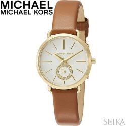 Michael Kors MICHAEL KORS MK2734 clock watch Lady's brown leather
